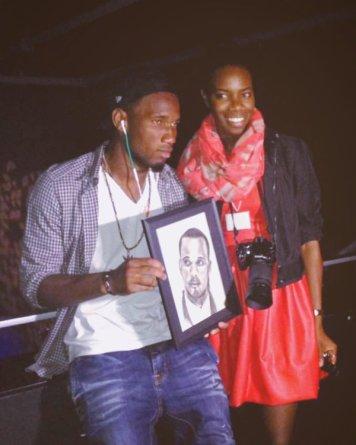 Tatou with International soccer player Didier Drogba