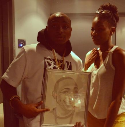 Tatou with Hip Hop artist Davido